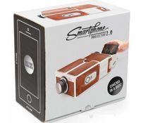 Wholesale Portable Cardboard Smartphone Projector V2 DIY Mobile Phone Projector Portable Cinema for Smart Phone
