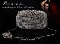 Wholesale bolsa feminina New Both Side Diamond Flower Crystal Evening Bag Clutch Bags Upscale Styling Day Clutches Lady Wedding Purse