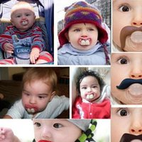 Wholesale 2017 hot baby pacifier funny pacifier Cute Teeth Mustache Baby Boy Girl Infant Pacifier Orthodontic Dummy Beard Nipples Pacifiers safe