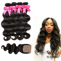 Cheap Clearance Sale Brazilian Body Wave Piece With Bundles 4PCS Best Quality Human Hair Extensions 4 Bundles With Silk Base Closure