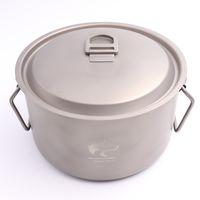 big cooking pots - Boundless Voyage ml Titanium Big Pot Camping Cookware Cooking Pot Outdoor Picnic Cookware Ultralight Pot g Ti1505B