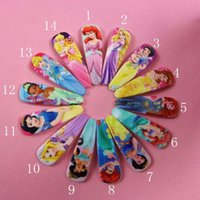 Children's Hair Accessories Mix Color Hair Barrettes & Hairpins Wholesale Frozen girls hairpins children cartoon hair accessories princess Cinderella Mermaid snow white Hairpin Clip Hair Baby Hair Clip