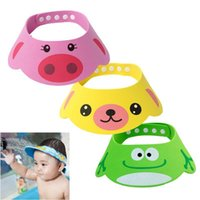 Wholesale Adjustable Baby Hat Toddler Kids Shampoo Bathing Shower Cap Wash Hair Shield Direct Visor Caps For Children Baby Care Colors