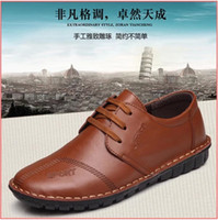 Cheap 2015 spring and autumn leather hand sewn soft bottom Single Skin Leather Mens Casual shoes men's British Daily