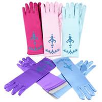 Wholesale Children Gloves Frozen Gloves Winter Gloves Fetish Gloves Fashion New Gloves Frozen Elsa Princess Girl Fancy Anna Kids Children Xmas Dresses