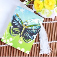 Wholesale DHL wedding favors gifts stainless steel Elegant Butterfly Bookmark with tassel Baby Shower souvenir bookmark