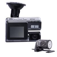 La cámara doble DVR del espejo de Rearview del G-Sensor del coche DVR HDR de la visión nocturna de la leva 1080p LCD de la rociada del registrador del coche de la lente libera el envío