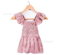 beaded jumpsuits - 2016 Hot sale summer years Baby Girls One Pieces Lace Romper new fashion Floral jumpsuits rompers clothes