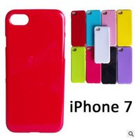 apple jellies - Candy Color Soft TPU Gel Rubber Silicone Jelly Case Cover for iPhone SE S s Plus Samsung Galaxy S6 S7 edge note Solid Color DHL