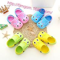 Wholesale Lovely Cute Children Baby Slippers Summer Children boys girls slippers caterpillar animal cartoon EVA kids Shoes Slippers