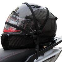 Wholesale Motorcycle helmet rope line Lee rope off road motorcycle Accessories net Elastic High strength metal hook
