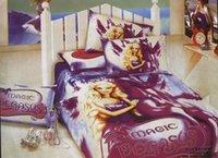 al por mayor camas cobardes-niñas magia de Pegaso ropa de cama de la princesa de la ropa de cama 100% algodón 450 TC doble cobarde colcha edredón cubre accesorios para el hogar juegos de edredones