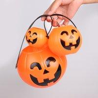 Wholesale DHL SF_EXPRESS Halloween pumpkin bucket CM CM CM pumpkin lantern bar decorative props candy jar Child portable BUCKET
