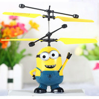 airplane modes - Remote Control Airplane Toys Small Yellow People Remote Sensing Aircraft Dual mode Suspension Kids mini rc toys Indoor outdoor