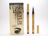 Wholesale Hot makeup KYLIE gold birthay edition tube liquid eyeliner pencil lasting blooming gold box Long Lasting