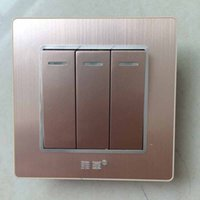 Wholesale Luxury Capacitive Crystal Toughened Glass Touch Panel Gangs V Touch Screen Wall Light Switch UK Standard