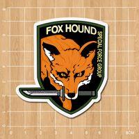 backpack stickers - Metal Gear Solid Fox Hound Logo Notebook refrigerator skateboard trolley case backpack Tables book sticker PVC sticker