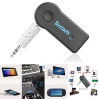Wholesale 3 mm AUX Wireless Audio Receiver Adapter BT310 Bluetooth V3 Stereo Music Receiver Play Hands free for Car PC Mobile Speaker
