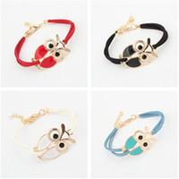 Wholesale Fashion Owl Bracelet Women Men Adult Novelty Rope Fashion Party Statement Jewelry Bracelets Valentine Gift Colors
