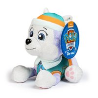 Wholesale P aw Patrol Plush Toys New Style With Paw Print cm Patrol Doll Toy Marshall Chase Figure Zuma Rocky Rubble Kids toys
