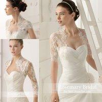 beige short jacket - High Collar Short Cap Sleeves Bolero Lace Wedding Bride Jacket Custom Made Boleros Lace Wedding Bride