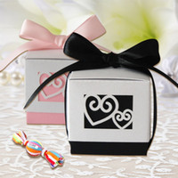 asia express - 120pcs Special felt bride and groom wedding favor box in china alibaba express new product for wedding candy gift box
