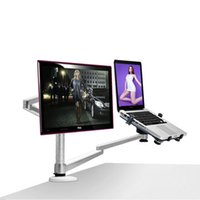 Wholesale OA X Multimedia Desktop inch LCD Monior Holder Laptop Holder Stand Table Full Motion Dual Monitor Mount Arm Stand