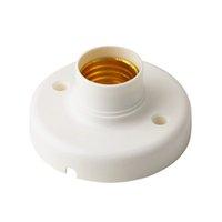 Wholesale 1Pc New Arrival Useful E27 Round Plastic Base Screw Light Bulb Lamp Socket Holder White