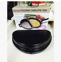 Wholesale 2016 new products Folding Fried Eggs pot Reversible non stick cookware Outdoor portable folding pan