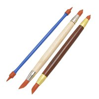 Wholesale x Wooden Metal Rubber Pens Pottery Clay Sculpture Carving Shaping Modeling Tool