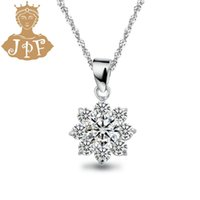 artificial plants singapore - JPF bright star artificial diamond simple noble Silver Necklace