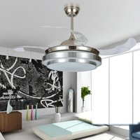 Wholesale Modern Led Lighting Decorative Ceiling Fans Retractable Blade Luxury Folding Ceiling Fan With Lights Remote Control v v