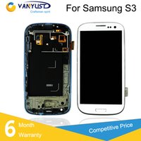 galaxy s3 digitizer - For Samsung Galaxy S3 i9300 i9305 i747 i535 LCD Display Touch Digitizer Complete Screen Panels Full Assembly With Frame Replacement