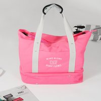 Wholesale New Style Shoulder Bag Fashion Designer Portable Shopping Bags High volume Canvas Handbag Folding travel luggage Bag for Women