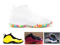 Wholesale Olympic Foams mens basketball shoes Sneaker WU TANG Penny hardaway Maroon Fruity Pebbles Women sneaker size
