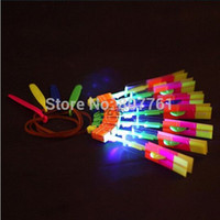 Wholesale LED Illuminated Arrow Helicopter LED light toy gift kids christmas children s day M098