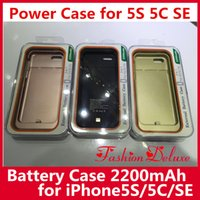 apple iphone battery charger - Cellphone Power Cases For iPhone C S SE External Battery Cases Backup Charging Power Bank Case mAh For iPhone5 s Hotsale In Stock
