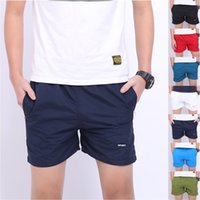 Wholesale Thin zwembroek trunk men Anti UV Men Basic Beach Short Sport Surf Shorts Fitness Men s Gym Shorts Pants Running Fashion