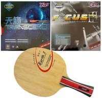 Wholesale Pro Table Tennis Combo Paddle Racket Yinhe Earth with TRANSCEND CREAM FOCUS III