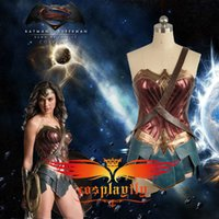 batman party games - Movie Batman v Superman Dawn of Justice Wonder Woman For Adult Cosplay Costume Custom Made For Halloween Party