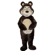 adult grizzly bear costume - high quality Masha Bear Bruin Ursa Grizzly Costume Mascot Adult Character Costume Mascot Costume for School FreeShipping