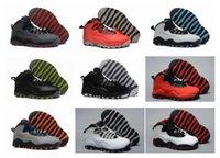 Bon Marché Air en cuir libre-Livraison gratuite Enfants Air Retro10 Basketball Chaussures de sport pour enfants en cuir extérieur Athlétisme Basketball Sneakers Chaussures Taille 28-35
