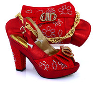 african style bags - Cherry Lady2016 New Italian Style Shoes And Matching Bag Set Fashion African Pumps Shoes And Matching Bag Sets For Wedding Party Red