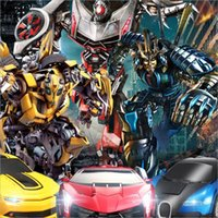 Wholesale Luxury Sportscar Models Deformation Robot Transformation Remote Control RC Car Toys Kids Gift