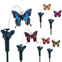 Wholesale 2016 New Solar hummingbirds Hot selling solar powered dancing toy fluttering solar butterfly decorative solar flying toy with great price