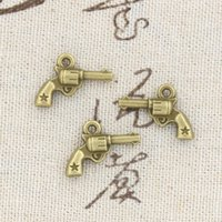 antique pistols - 120pcs Charms pistol mm Antique Making pendant fit Vintage Tibetan Bronze DIY bracelet necklace