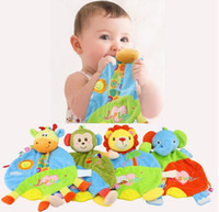 Wholesale 12pcs style Baby Infant Cute Plush Toy Comfort Towel with Teether Soft Appease Stuffed Toy Playmate Calm Doll
