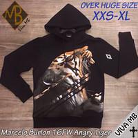 angry t shirt - FW MARCELO BURLON Men Long Sleeve T Shirts Sweatshirt Burlon ANGRY TIGER Vestidos Hoody BIG OVER SIZE XXS XL