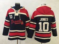 best mens hoodies - 2016 New Atlanta Braves Mens Sweaters Chipper Jones Black Baseball Hoodies Jersey Accept Mixed Orders Best Quality