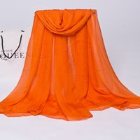 Wholesale New fashion scarves beach in Europe and the pure color silk chiffon is prevented bask in shawls scarves
